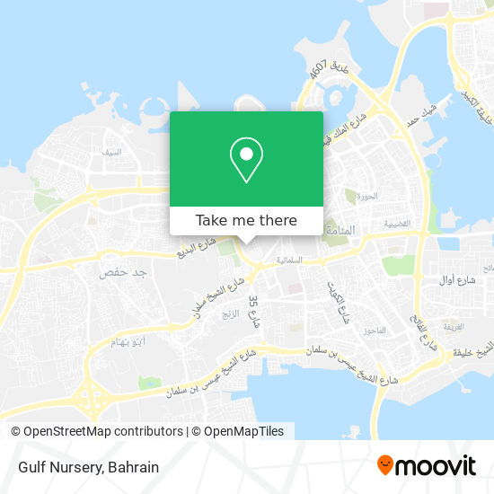 Gulf Nursery map