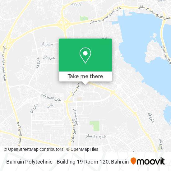 Bahrain Polytechnic - Building 19 Room 120 map