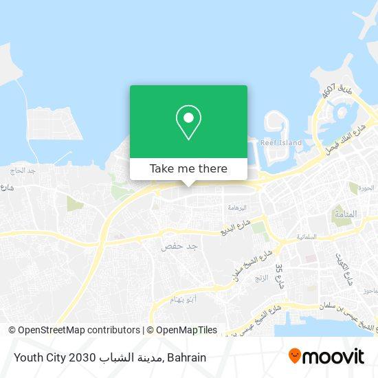 Youth City 2030 مدينة الشباب map