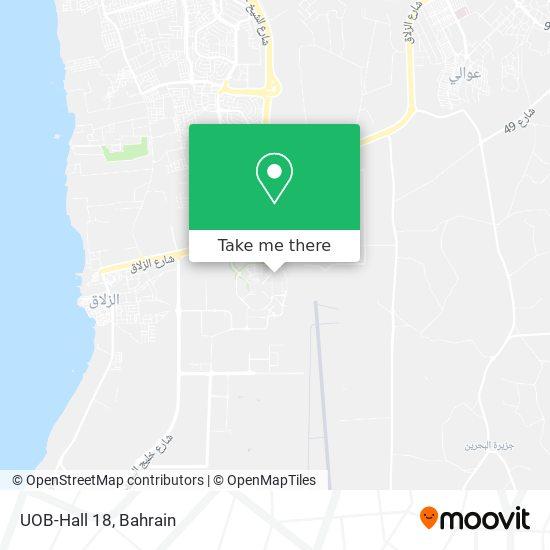UOB-Hall 18 map