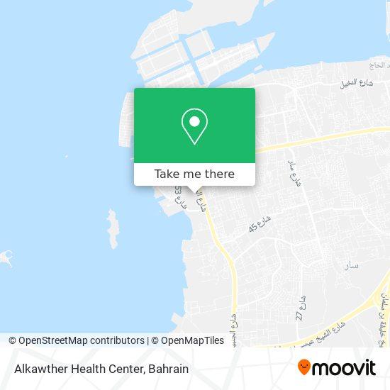 Alkawther Health Center map