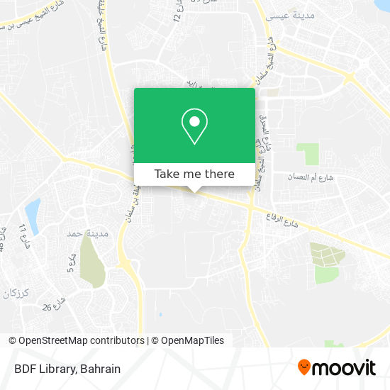 BDF Library map