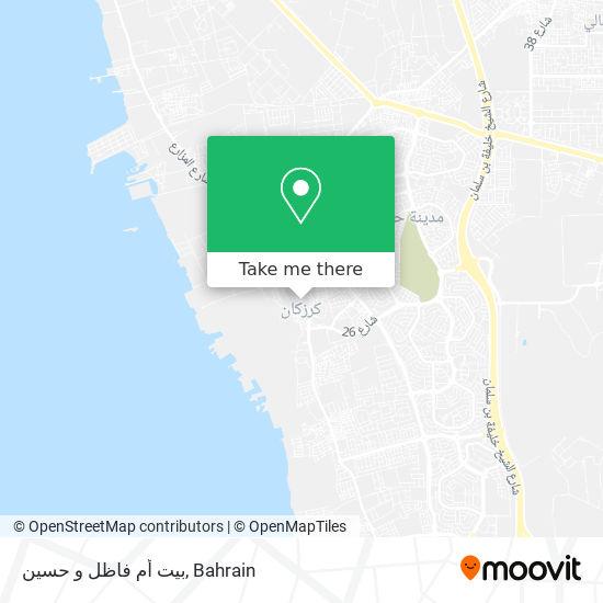 بيت أم فاظل و حسين map