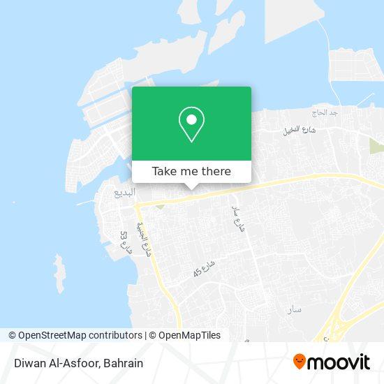 Diwan Al-Asfoor map