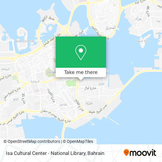 Isa Cultural Center - National Library map