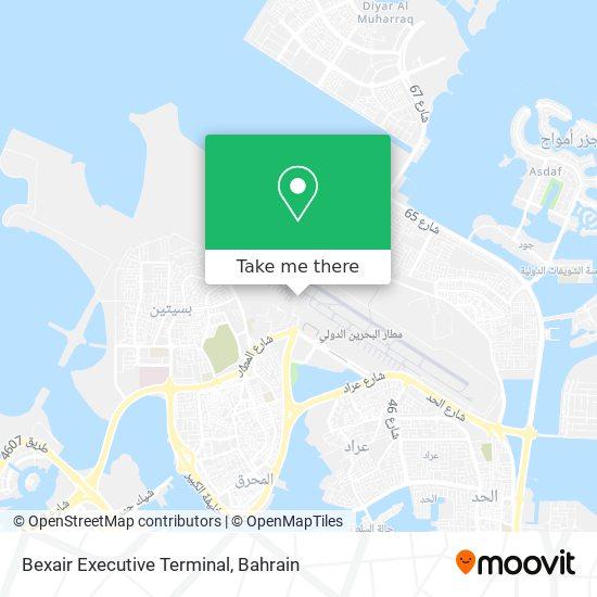 Bexair Executive Terminal map