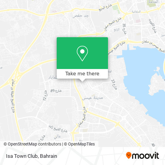 Isa Town Club map