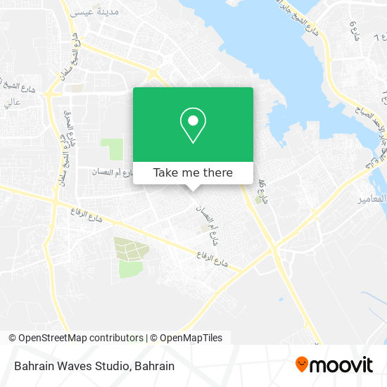 Bahrain Waves Studio map