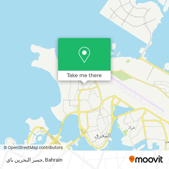 جسر البحرين باي map