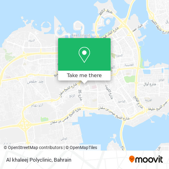 Al khaleej Polyclinic map