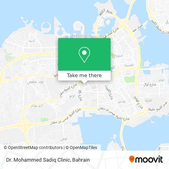 Dr. Mohammed Sadiq Clinic map