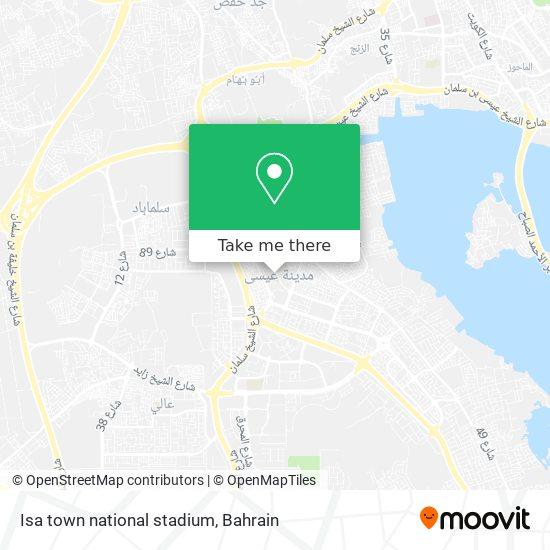 Isa town national stadium map