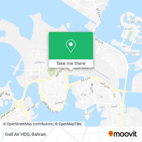Gulf Air HDQ map