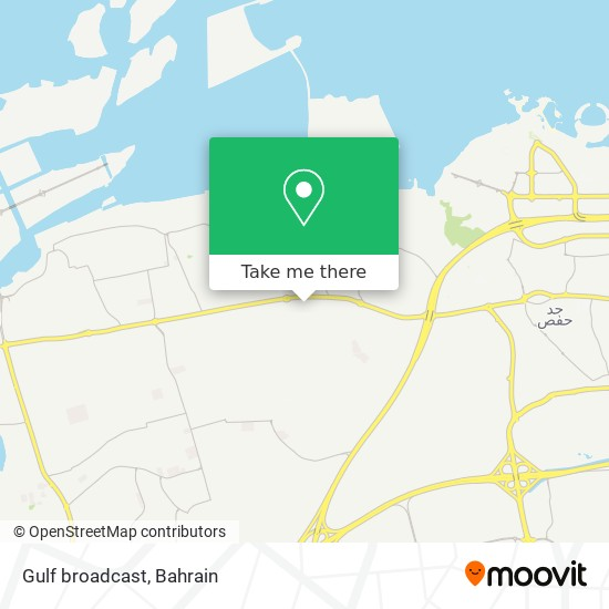 Gulf broadcast map