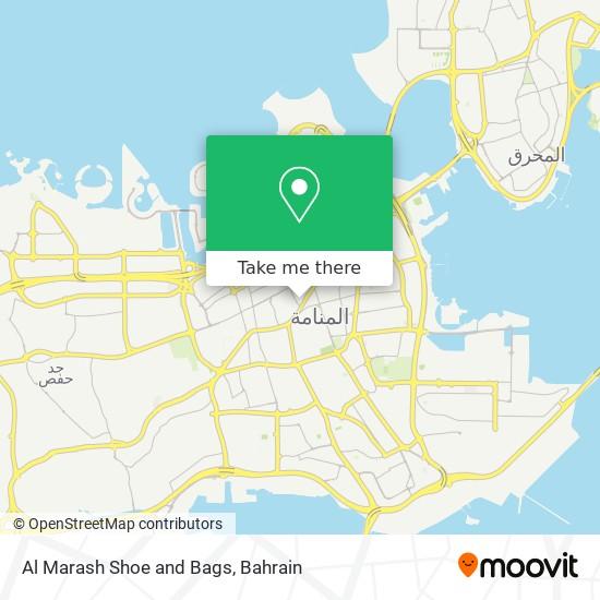 Al Marash Shoe and Bags map