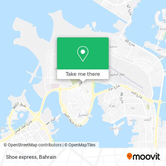 Shoe express map
