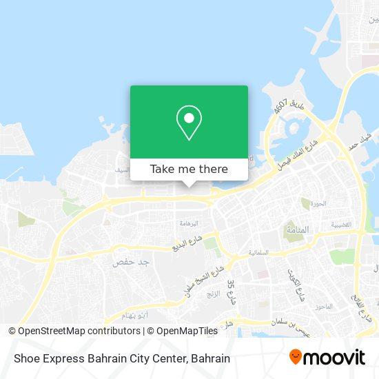 Shoe Express Bahrain City Center map
