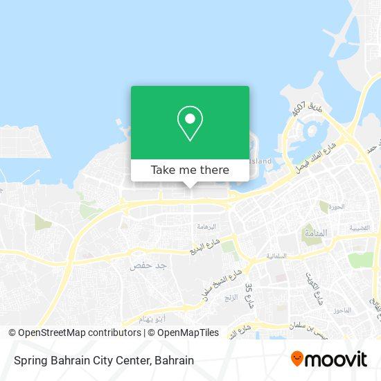 Spring Bahrain City Center map