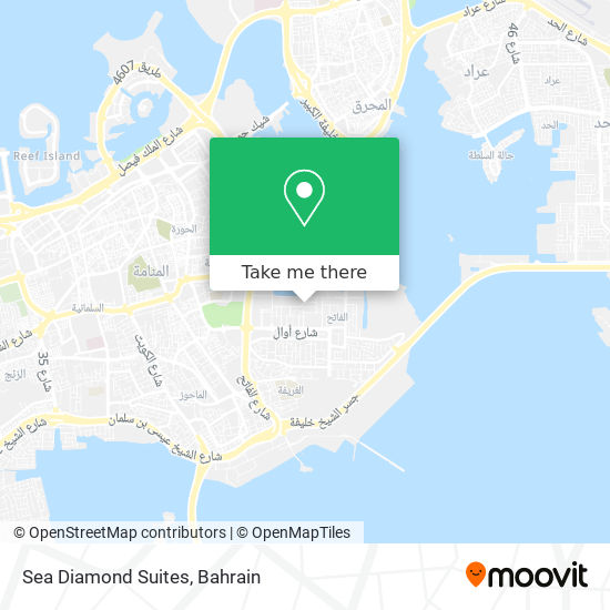 Sea Diamond Suites map
