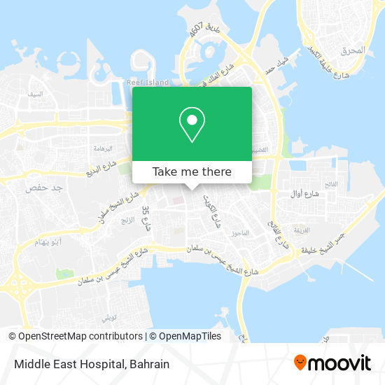 Middle East Hospital map