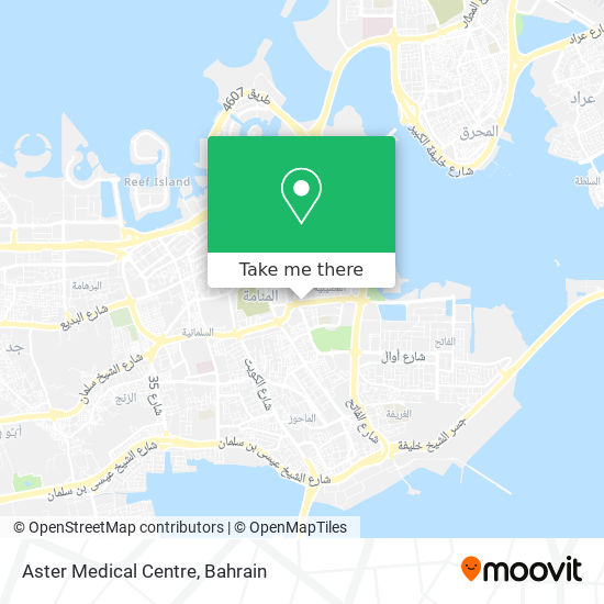 Aster Medical Centre map