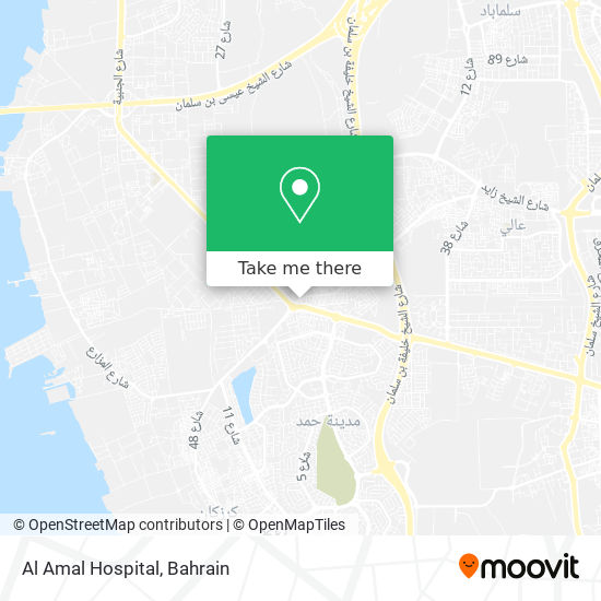 Al Amal Hospital map