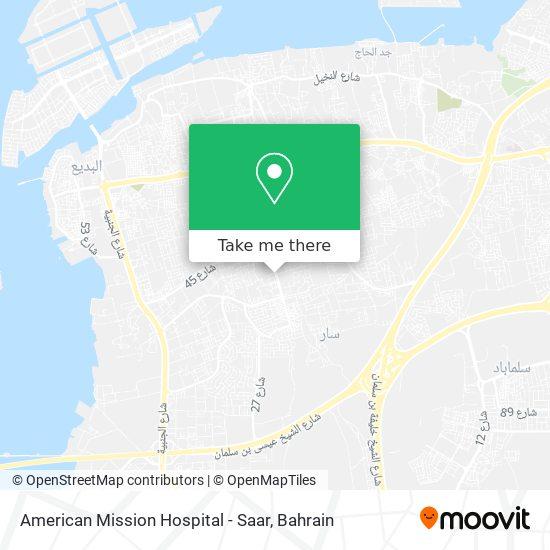 American Mission Hospital - Saar map