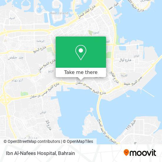 Ibn Al-Nafees Hospital map