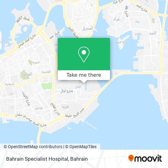 Bahrain Specialist Hospital map