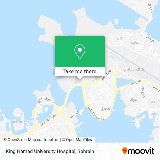 King Hamad University Hospital map