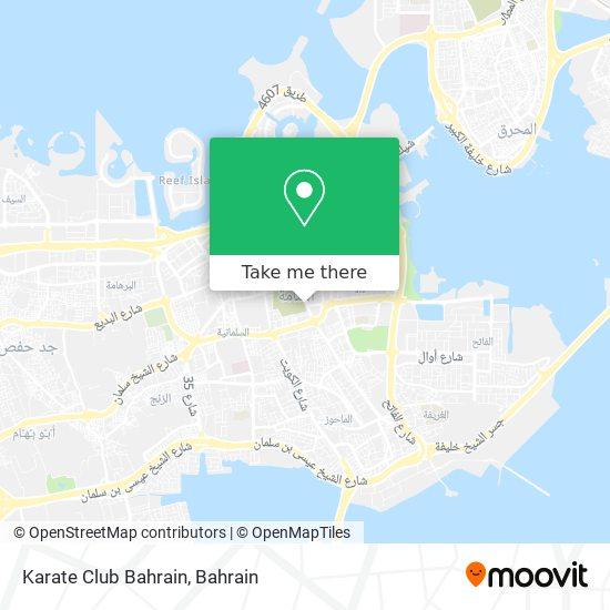 Karate Club Bahrain map