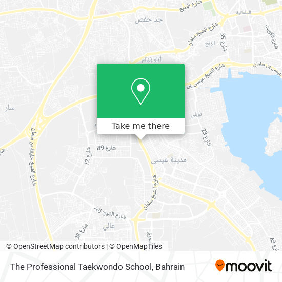 The Professional Taekwondo School map