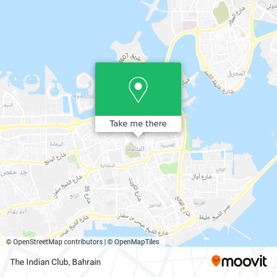 The Indian Club map