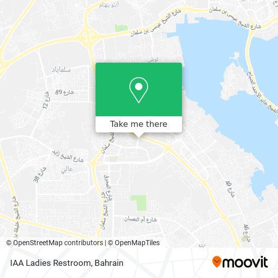 IAA Ladies Restroom map