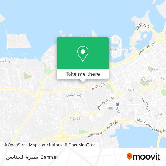 مقبرة السنابس map