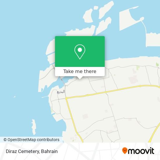 Diraz Cemetery map
