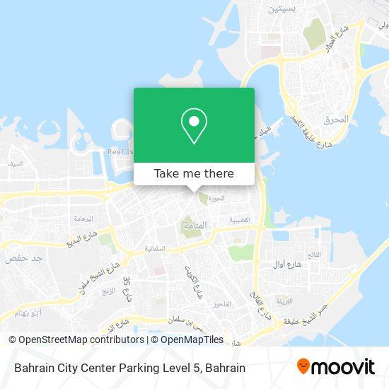 Bahrain City Center Parking Level 5 map