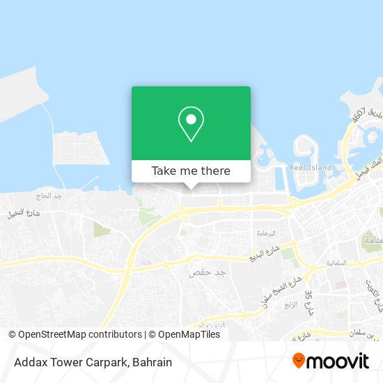 Addax Tower Carpark map