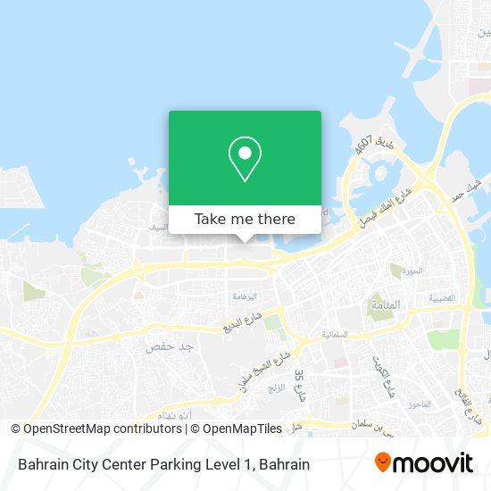 Bahrain City Center Parking Level 1 map