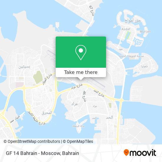 GF 14 Bahrain - Moscow map