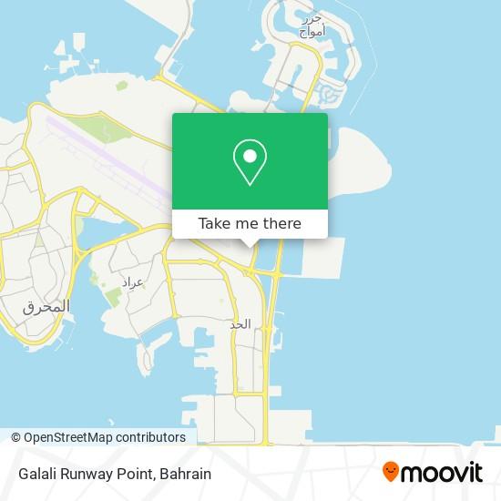 Galali Runway Point map