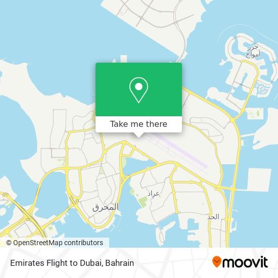 Emirates Flight to Dubai map