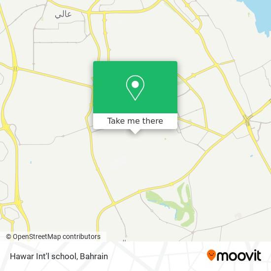 Hawar Int'l school map