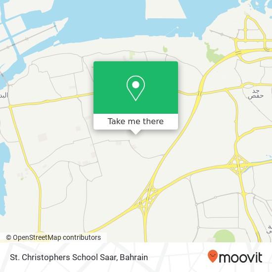 St. Christophers School Saar map