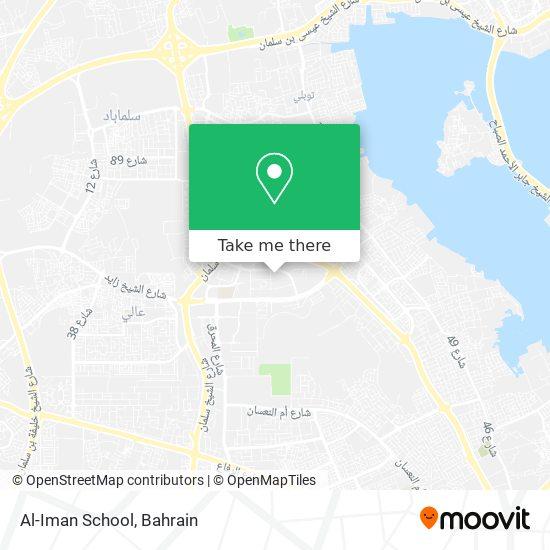 Al-Iman School map