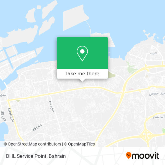 DHL Service Point map