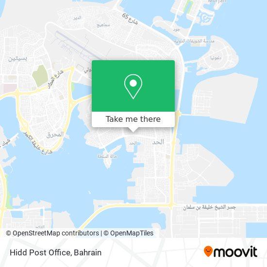 Hidd Post Office map