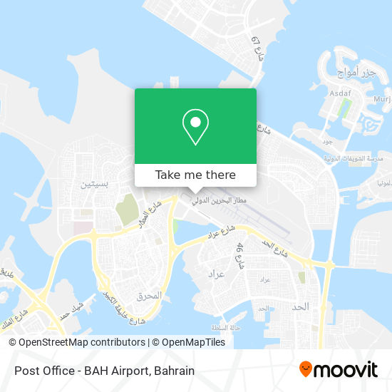Post Office - BAH Airport map