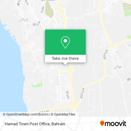 Hamad Town Post Office map