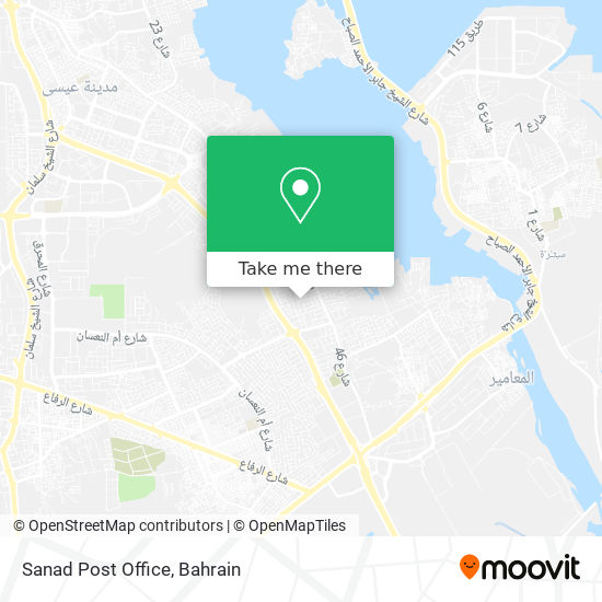 Sanad Post Office map